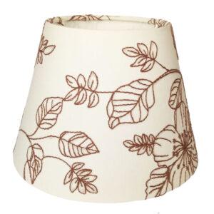 Hímzett virágos lámpaernyő