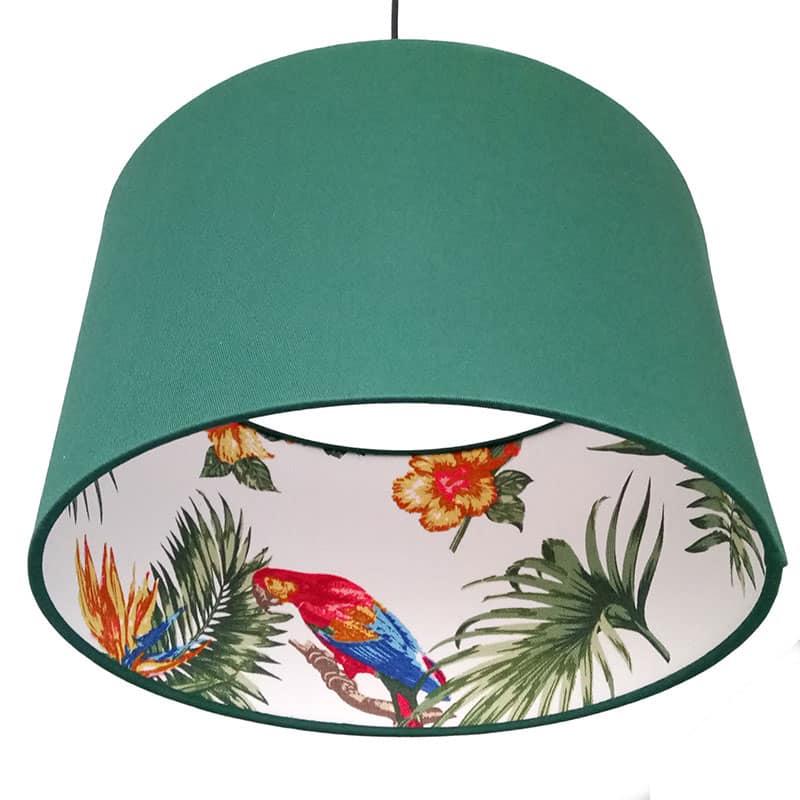 Papagájos lámpaernyő függeszték