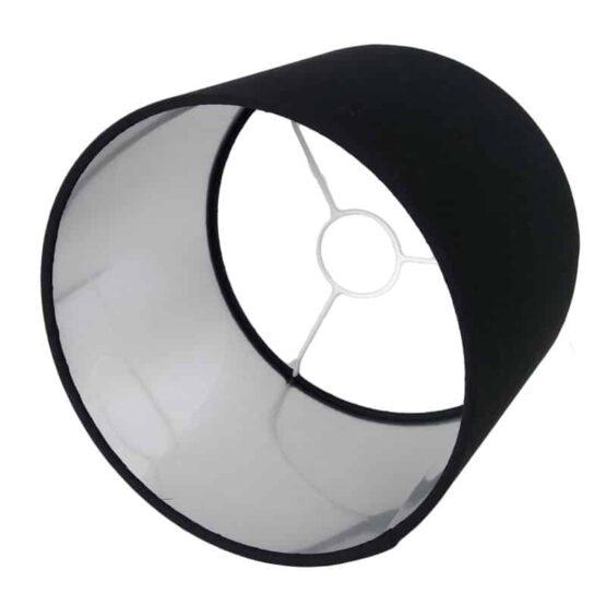 Ezüst-fekete lámpaernyő