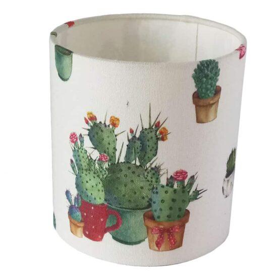 Kaktusz mintás lámpaernyő