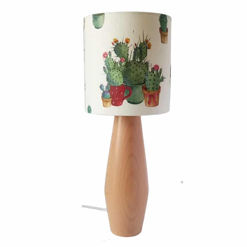 Kaktuszos asztali lámpa