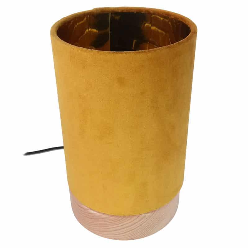 Mustársárga asztali lámpa
