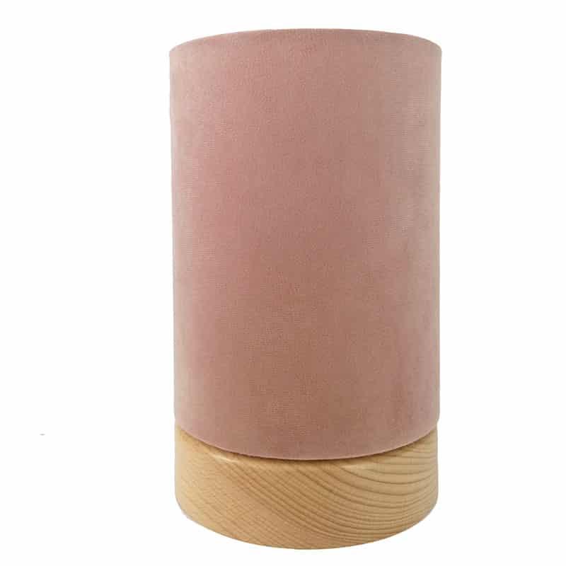 Púderrózsaszín asztali lámpa