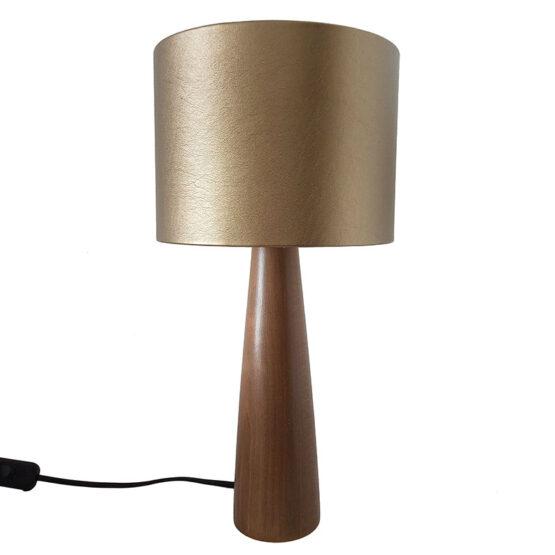 Asztali lámpa arany ernyővel