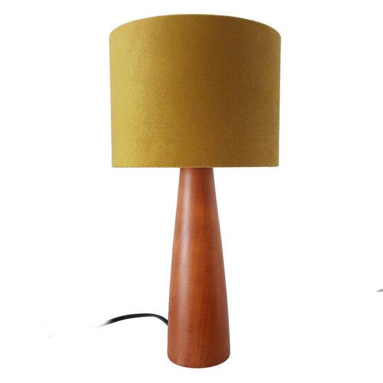 Asztali lámpa mustár ernyővel