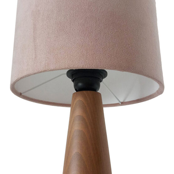 Asztali lámpa púder ernyővel