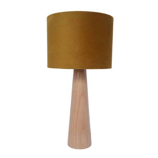 Asztali lámpa - bársony mustár