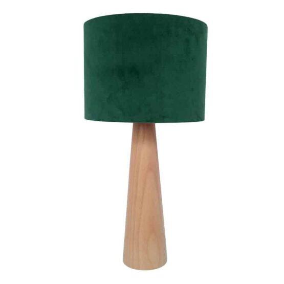 Asztali lámpa - bársony zöld