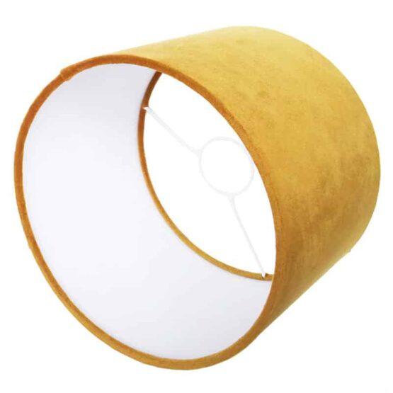 Mustársárga bársony lámpaernyő