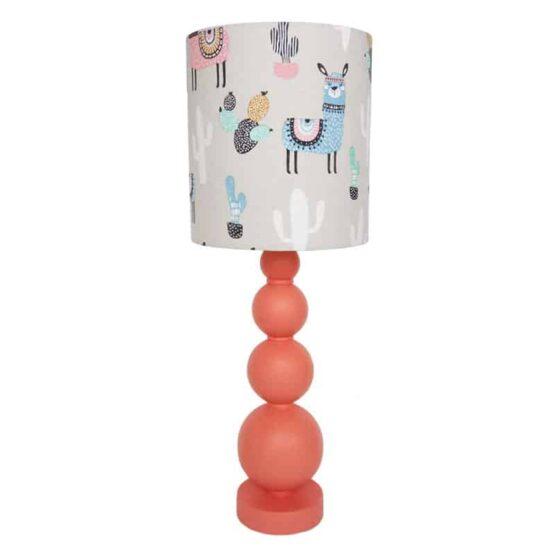 Alpaka mintás asztali lámpa