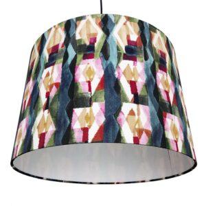 Mintás selyem lámpaernyő