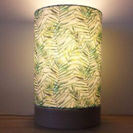 Zöld leveles asztali lámpa