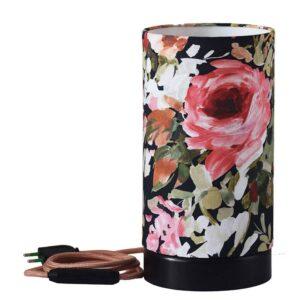 Asztali lámpa - Red rose Black