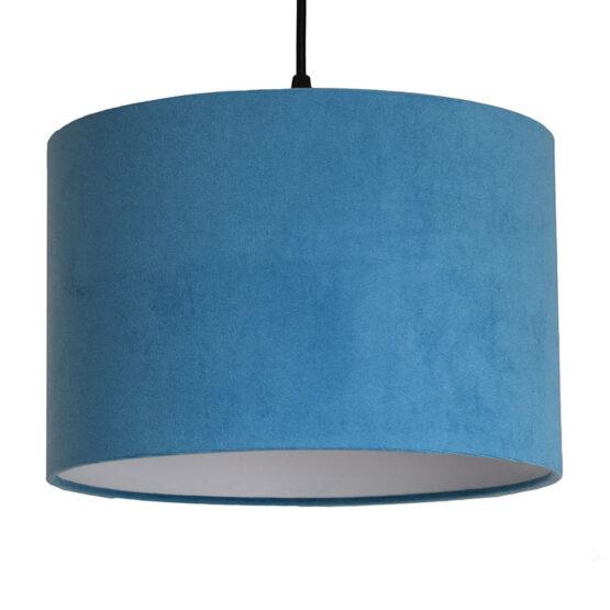 Türkiz bársony lámpaernyő