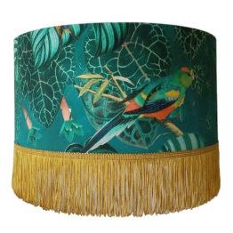 Arany-zöld papagájos lámpaernyő