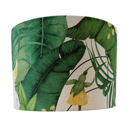 Kakadu mintás, dzsungeles lámpaernyő - zöld
