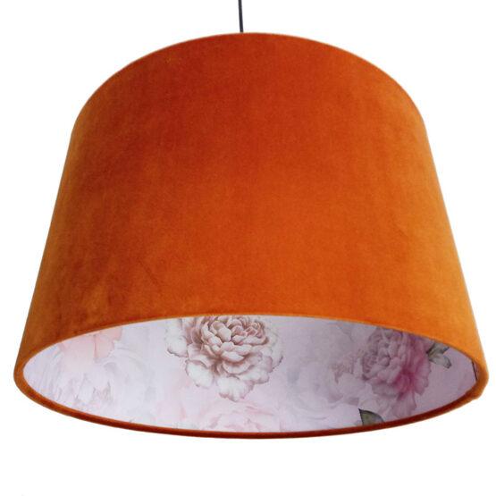 Bársony lámpaernyő - Rusty Flower