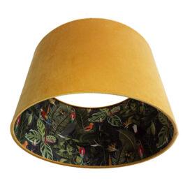 Trópusi mintás bársony lámpaernyő